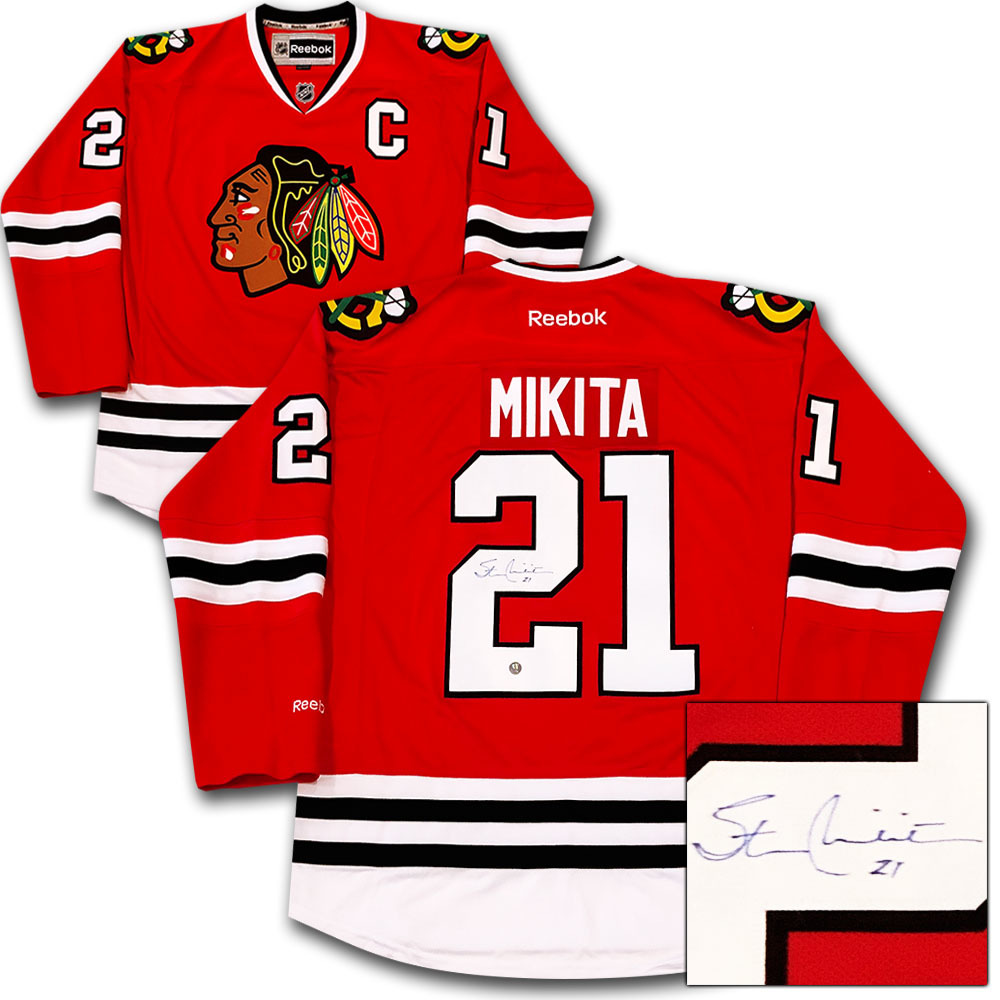 Stan Mikita Autographed Chicago Blackhawks Jersey