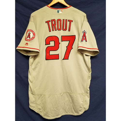 Photo of Mike Trout Team-Issued Road Jersey