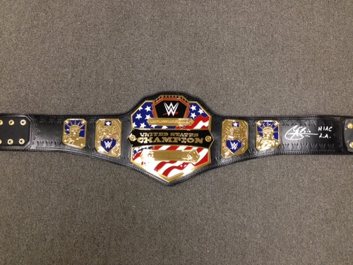 Photo of Alberto Del Rio SIGNED WWE United States Championship Replica Title