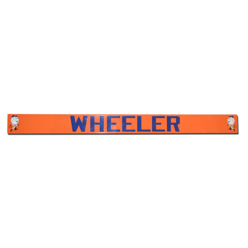Photo of Zach Wheeler #45 - Game Used Orange Mr. Met Locker Nameplate - Mets vs. Reds - 4/4/14
