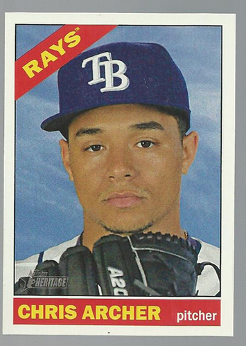 Photo of 2015 Topps Heritage #258 Chris Archer