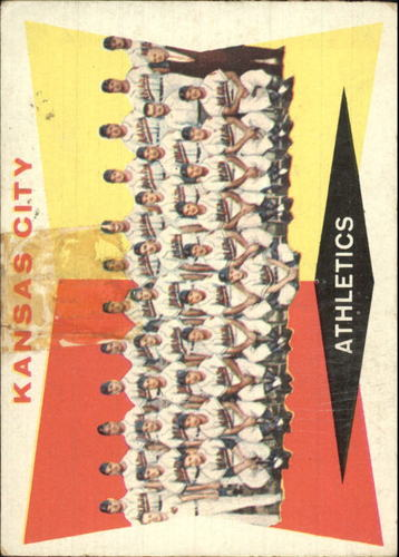 Photo of 1960 Topps #413A Kansas City Athletics CL WB