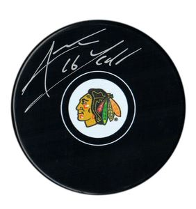Andrew Ladd - Signed Chicago Blackhawks Logo Puck
