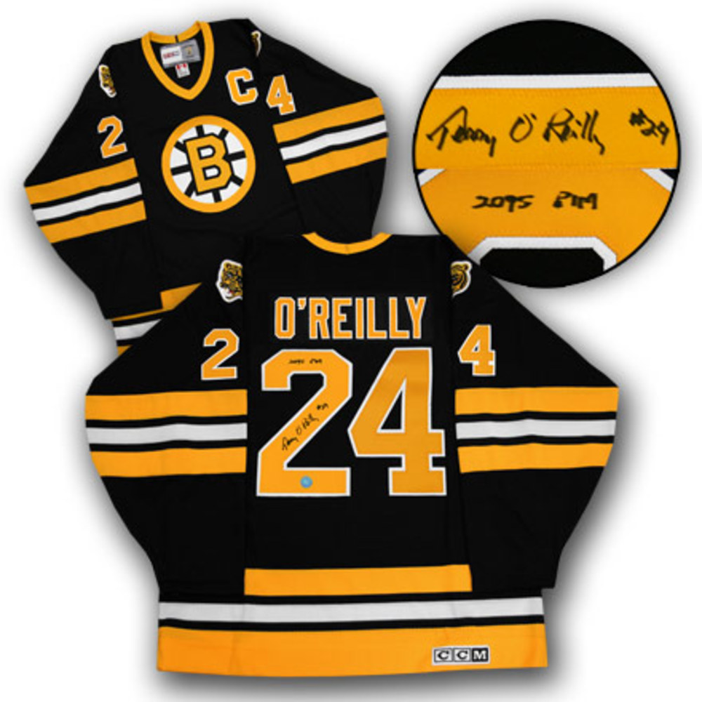Terry O'Reilly Boston Bruins Autographed Retro CCM Hockey Jersey w/ PIM Note