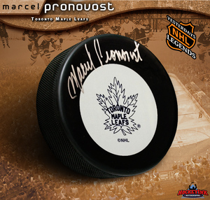 MARCEL PRONOVOST Signed Maple Leafs Puck