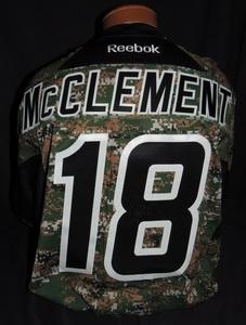Carolina Hurricanes Authentic Military Appreciation Night Jay McClement #18 Jersey