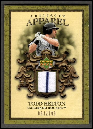 Photo of 2007 Artifacts MLB Apparel #HE Todd Helton