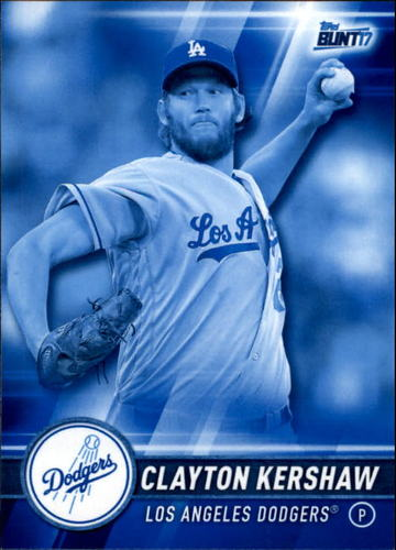 Photo of 2017 Topps Bunt Blue #1 Clayton Kershaw