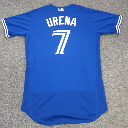 Photo of Authenticated Team Issued Jersey - #7 Richard Urena (2017 Season). Size 44.