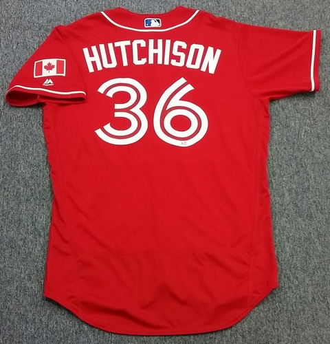 Photo of Authenticated Team Issued 2016 Canada Baseball Day Jersey - Drew Hutchison