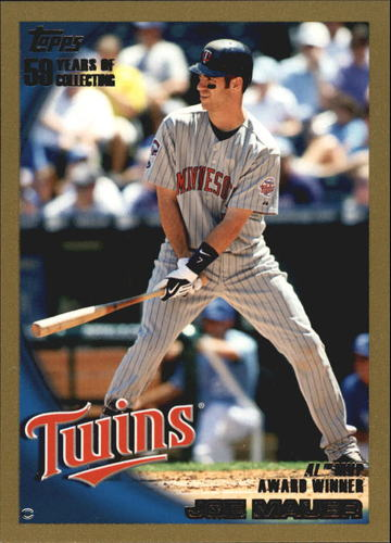 Photo of 2010 Topps Gold Border #172 Joe Mauer AL MVP