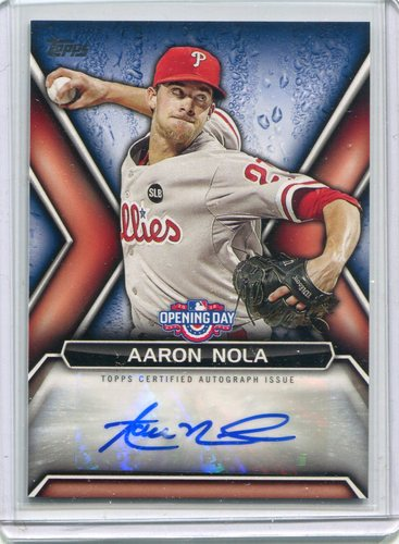 Photo of 2016 Topps Opening Day Autographs #ODAAN Aaron Nola