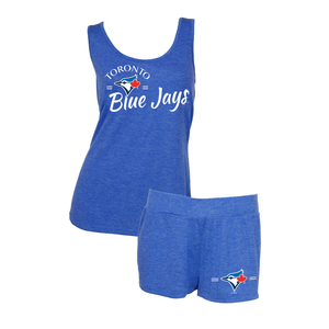 Toronto Blue Jays Women's Principle Tank & Short Set Royal by Concepts Sport