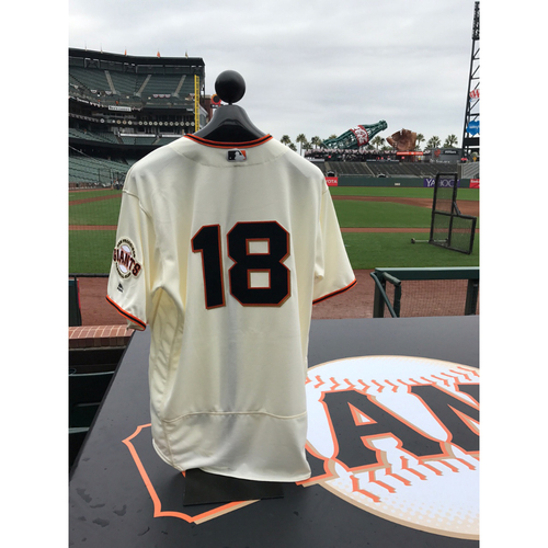 Photo of San Francisco Giants - Home Opening Day Jersey - Game Used - Matt Cain #18