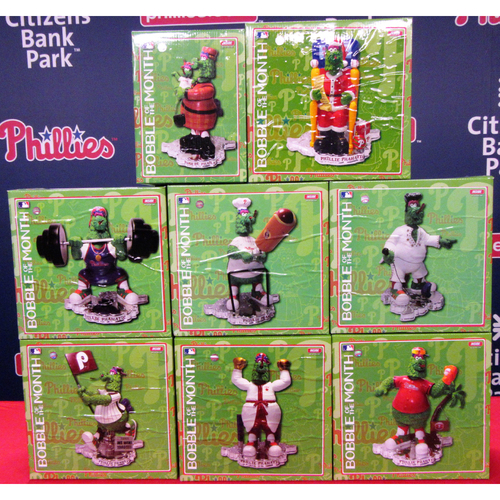 Photo of Complete Set of the 2016 Phillie Phanatic Bobble of the Month Series