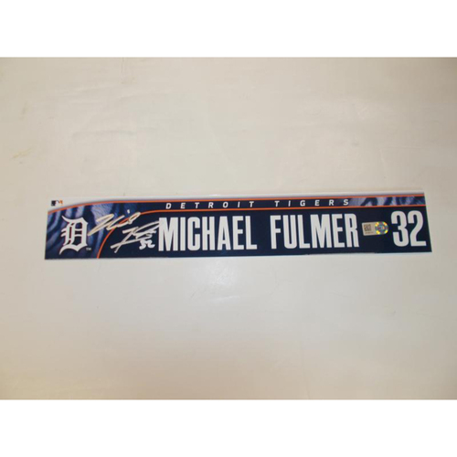 Photo of Autographed Michael Fulmer Locker Name Plate
