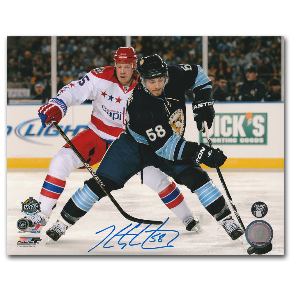 Kris Letang Autographed 2011 NHL Winter Classic 8X10 Photo