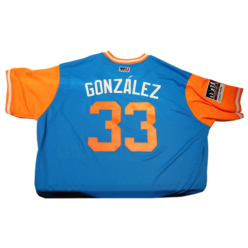 "Photo of Fredi ""Gonzalez"" Gonzalez Miami Marlins Game-Used Players Weekend Jersey"