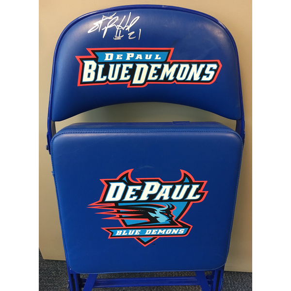 Stephen Howard Autographed DePaul Basketball Team Bench Chair