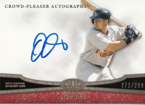 Photo of 2013 Topps Tier One Crowd Pleaser Autographs #JJ1 Jon Jay/299