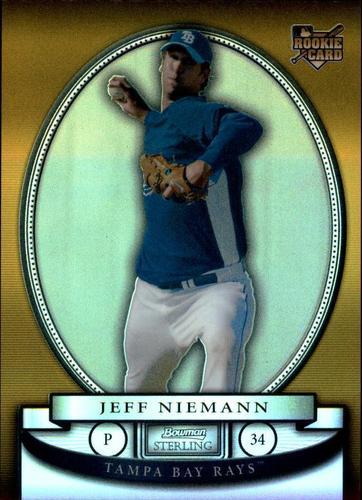 Photo of 2008 Bowman Sterling Gold Refractors #JN Jeff Niemann