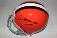 HOF - BROWNS BOBBY MITCHELL SIGNED BROWNS PROLINE HELMET