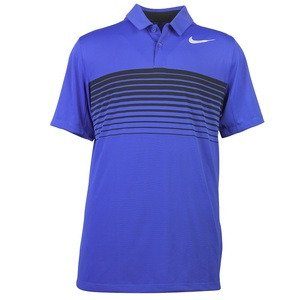 Men's Mobility Speed Stripe Polo Blue by Nike