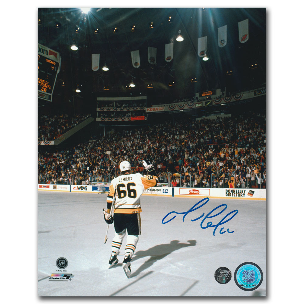 Mario Lemieux Autographed Autographed Pittsburgh Penguins 8X10 Photo