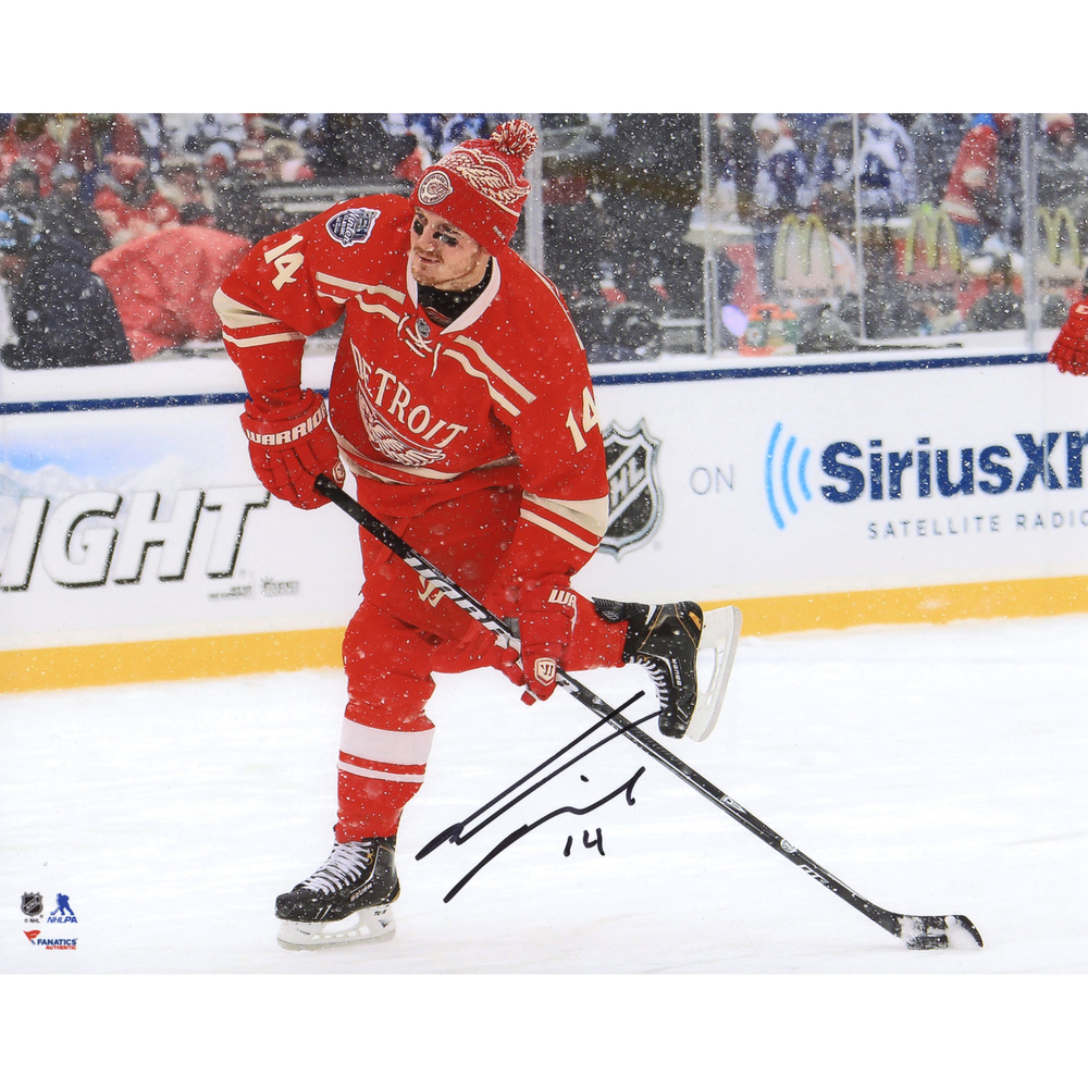 Gustav Nyquist Detroit Red Wings Autographed 2014 Winter Classic 8