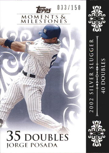 Photo of 2008 Topps Moments and Milestones #65-35 Jorge Posada