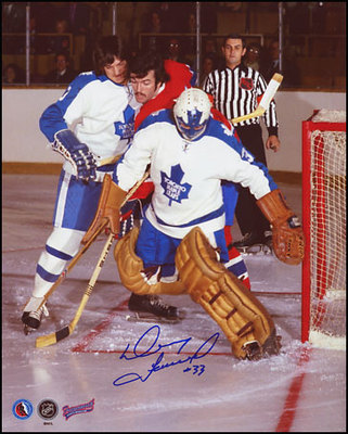 DOUG FAVELL Toronto Maple Leafs SIGNED 8x10 Game Action Photo