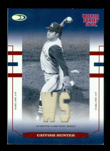 Photo of 2004 Donruss World Series Blue Material Fabric WS #87 Catfish Hunter Jsy/74