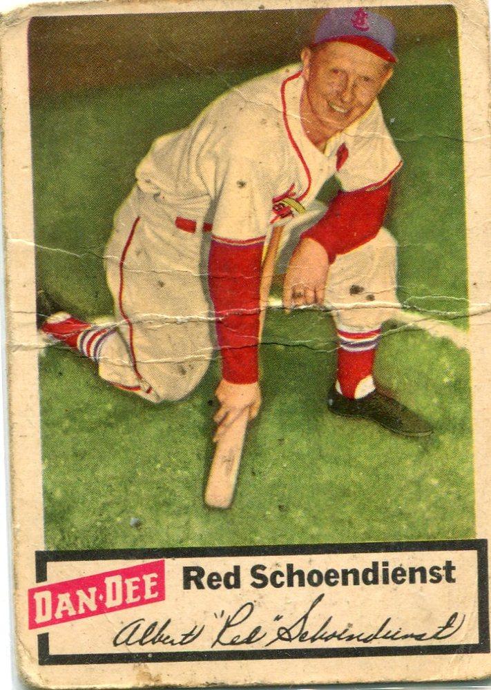 1954 Dan-Dee #22 Red Schoendienst