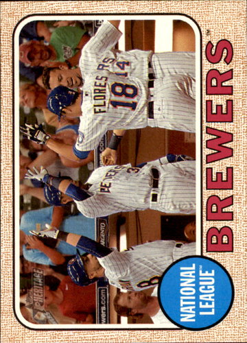 Photo of 2017 Topps Heritage #397 Milwaukee Brewers TC