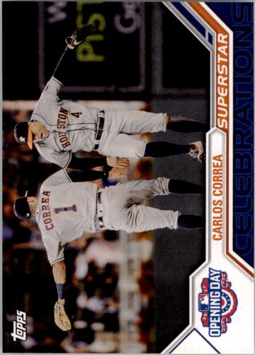 Photo of 2017 Topps Opening Day Superstar Celebrations #SC20 Carlos Correa