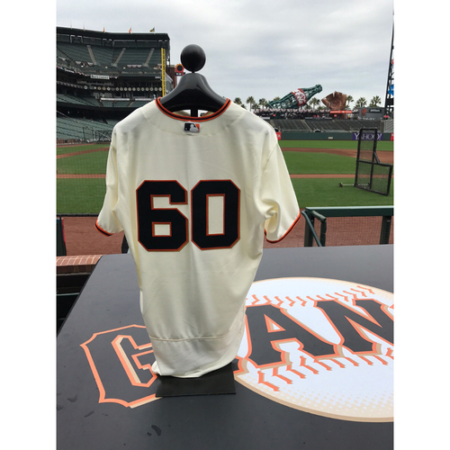 Photo of San Francisco Giants - Home Opening Day Jersey - Game Used - Hunter Strickland #60