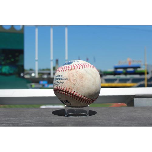 Photo of Game-Used Baseball: Jason Vargas Strike Out (7/17/17 DET at KC)