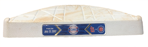 Photo of Game-Used 1st Base -- Used in Innings 5 through 6 -- Cardinals vs Cubs -- 7/21/17