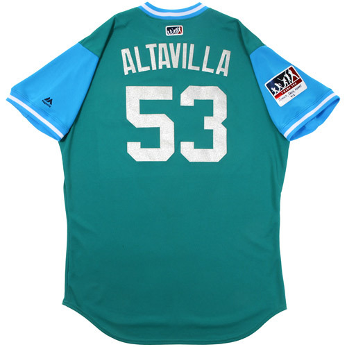 "Photo of Dan ""Altavilla"" Altavilla Seattle Mariners Game-Used Players Weekend Jersey"