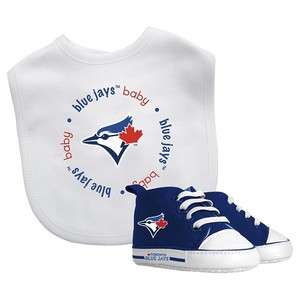 Toronto Blue Jays 2 Piece Bib & Pre-Walkers Set by Baby Fanatic