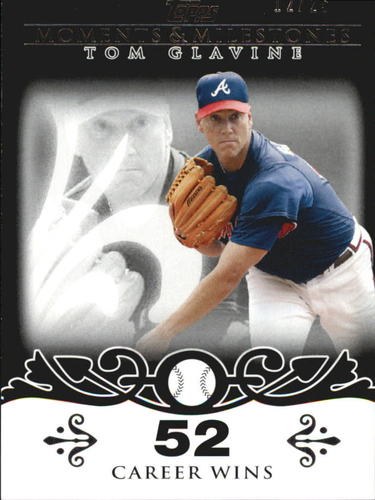 Photo of 2008 Topps Moments and Milestones Black #137-52 Tom Glavine