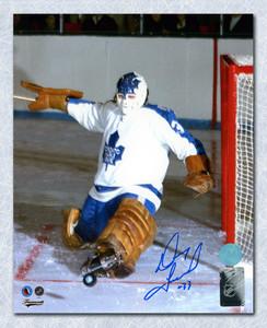 Doug Favell Toronto Maple Leafs Autographed Kick Save 8x10 Photo