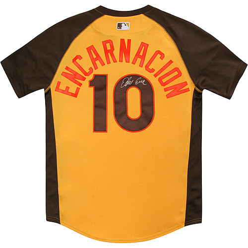 Photo of Edwin Encarnacion 2016 Major League Baseball Workout Day/Home Run Derby Autographed Jersey