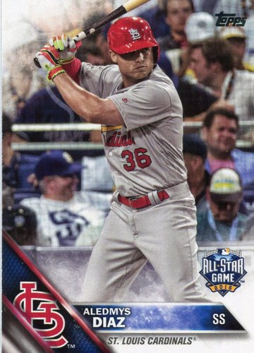 Photo of 2016 Topps Update #US33 Aledmys Diaz -- St. Louis Cardinals All-Star rookie card