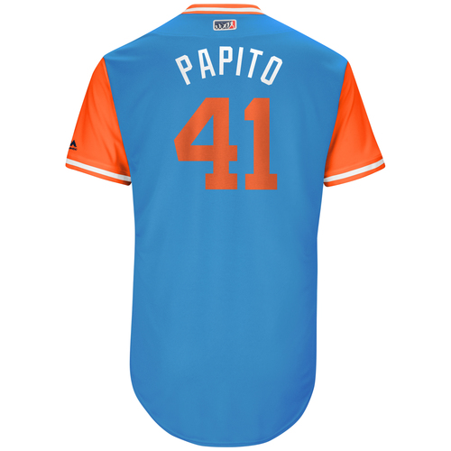 "Photo of Justin ""Papito"" Bour Miami Marlins Team-Issued Players Weekend Jersey"