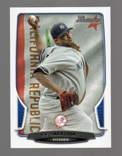 Photo of 2013 Bowman Hometown #5 CC Sabathia -- Yankees post-season