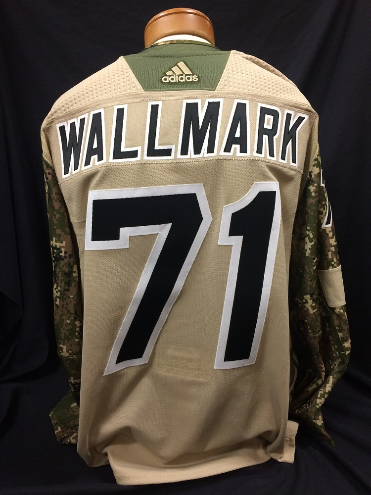 Lucas Wallmark #71 Autographed Military Appreciation Jersey