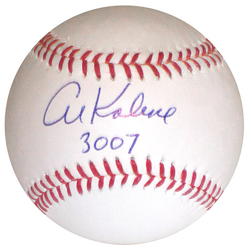 "Photo of Detroit Tigers Al Kaline Autographed Inscribed ""3007"" Hits Baseball"