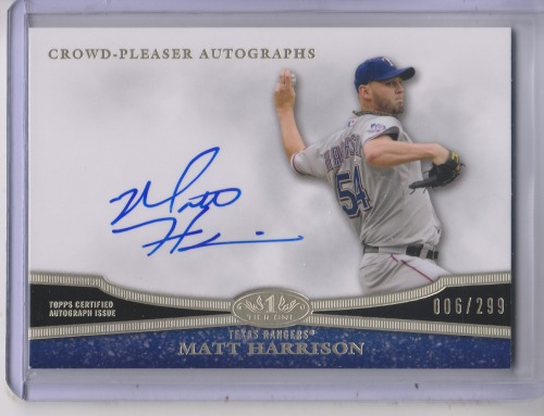 Photo of 2013 Topps Tier One Crowd Pleaser Autographs #MH1 Matt Harrison/299