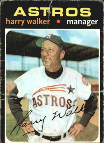 Photo of 1971 Topps #312 Harry Walker MG